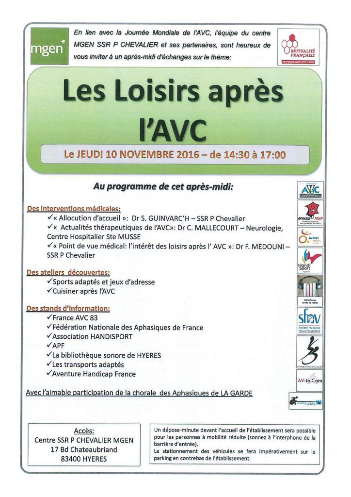 Conference à Hyères sur l'AVC